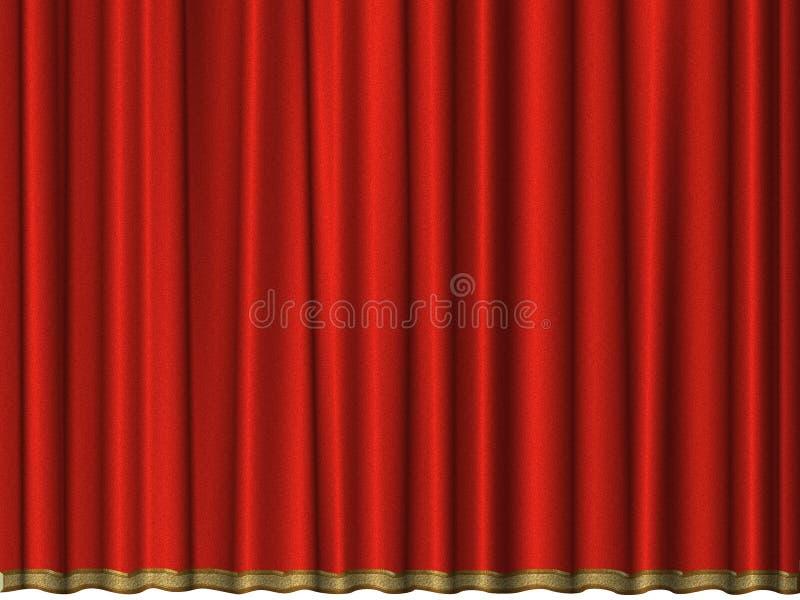 zasłony czerwieni aksamit royalty ilustracja