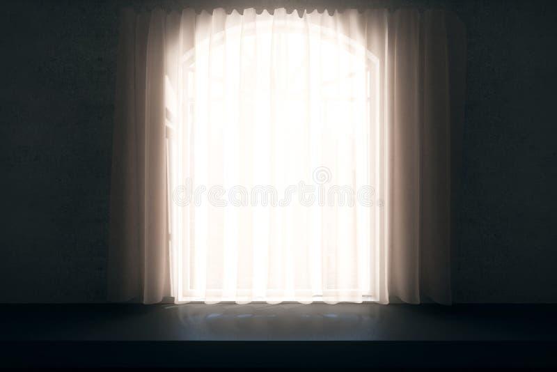 zasłony ilustraci wektoru okno royalty ilustracja