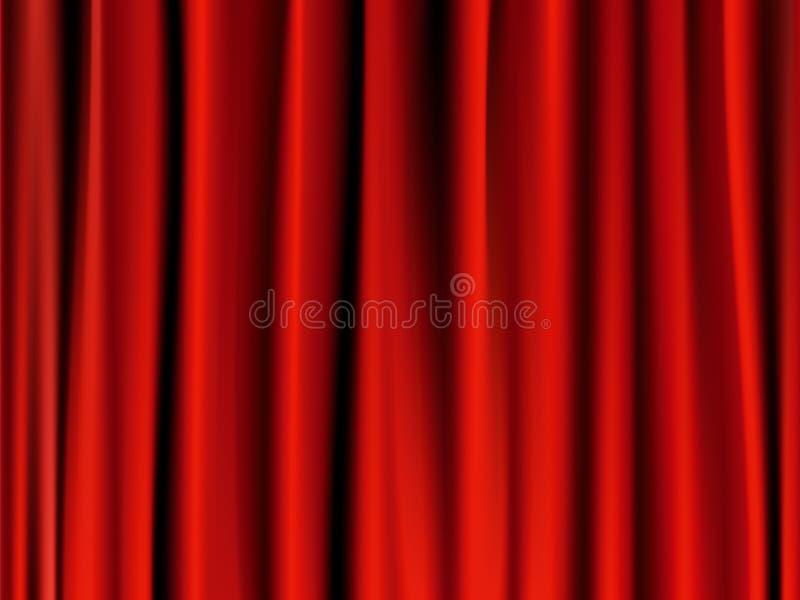 zasłony klasyczna czerwień ilustracji
