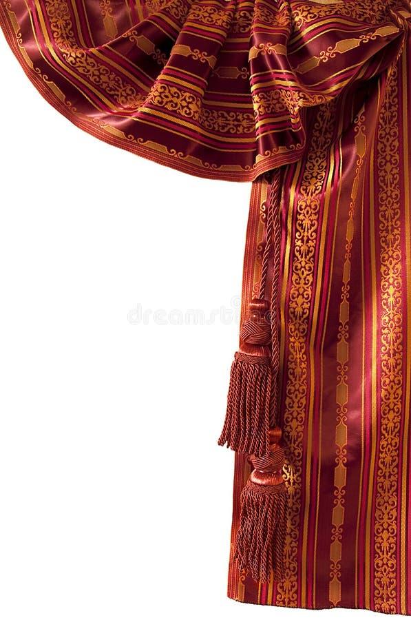 zasłony Oriental czerwień fotografia stock