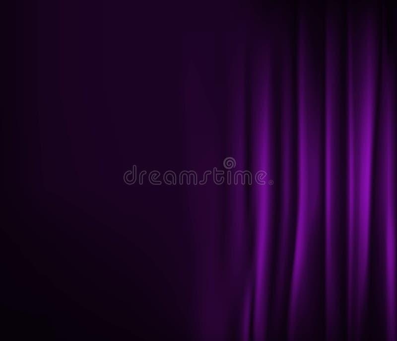 zasłony purpur tekstura ilustracji