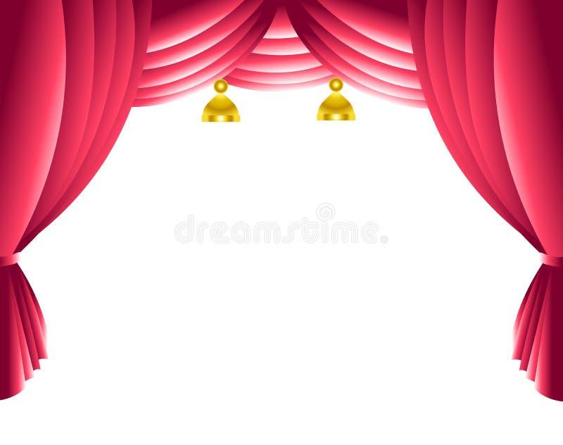 zasłony scena ilustracji