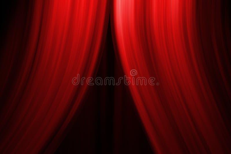 zasłony sceny do teatru ilustracji