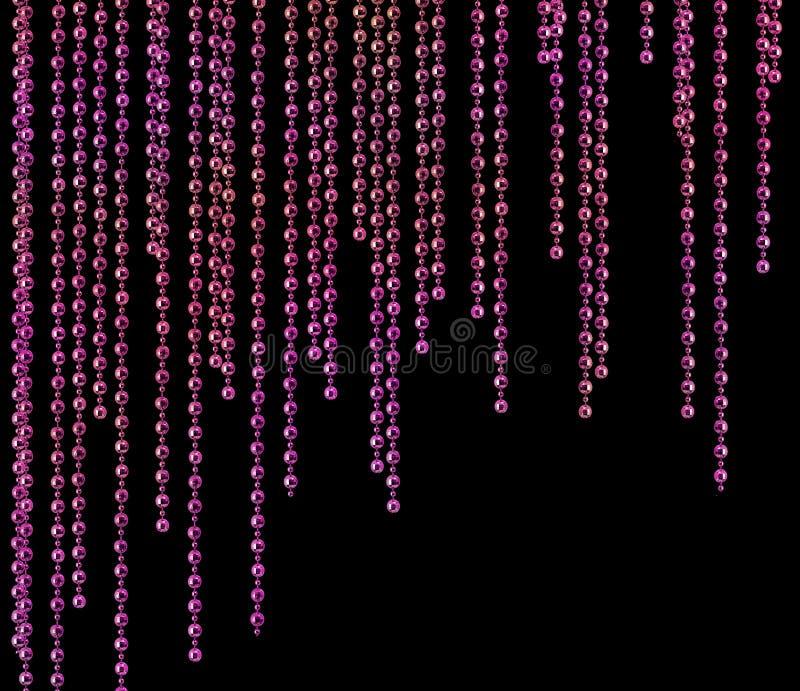 zasłony splendoru błyskotliwości purpury obraz stock