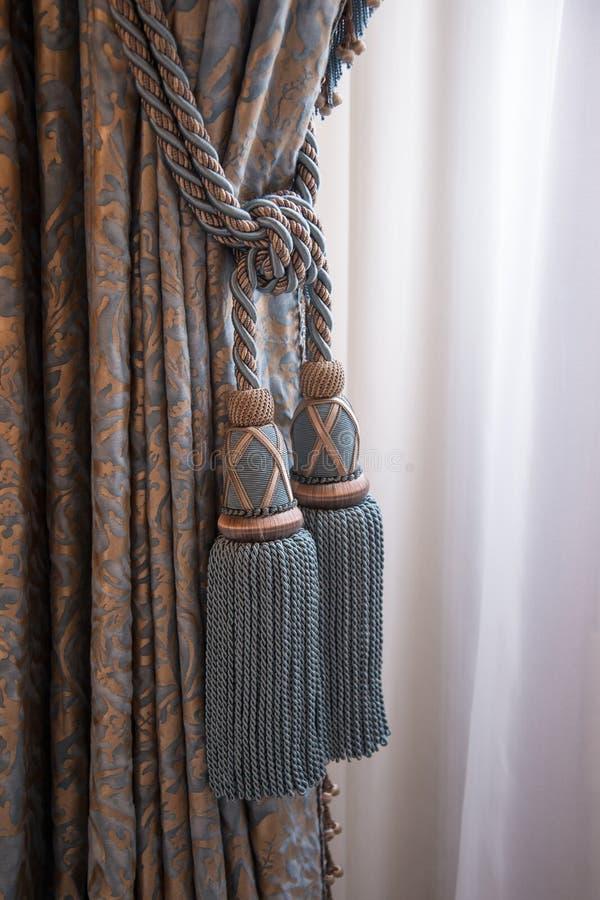 Zasłony w pałac królewski Amsterdam fotografia stock