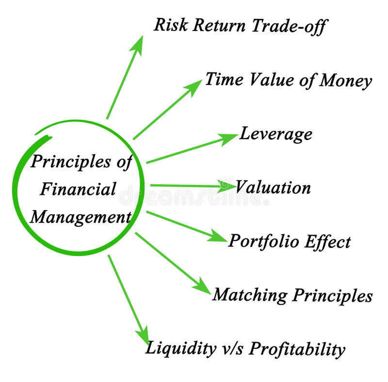Zasady zarządzanie finansami ilustracja wektor