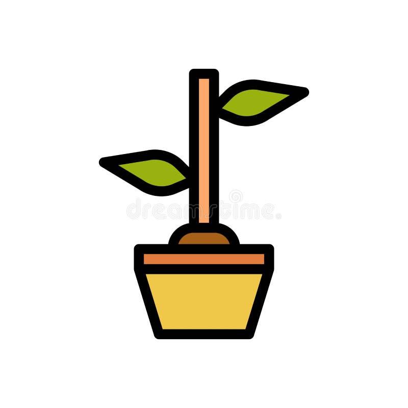 Zasadza drzewnego lata logo wektorową ikonę lub ilustrację Editable kolor i uderzenie Doskonali? u?ywa dla wzoru i projekta grafi ilustracja wektor