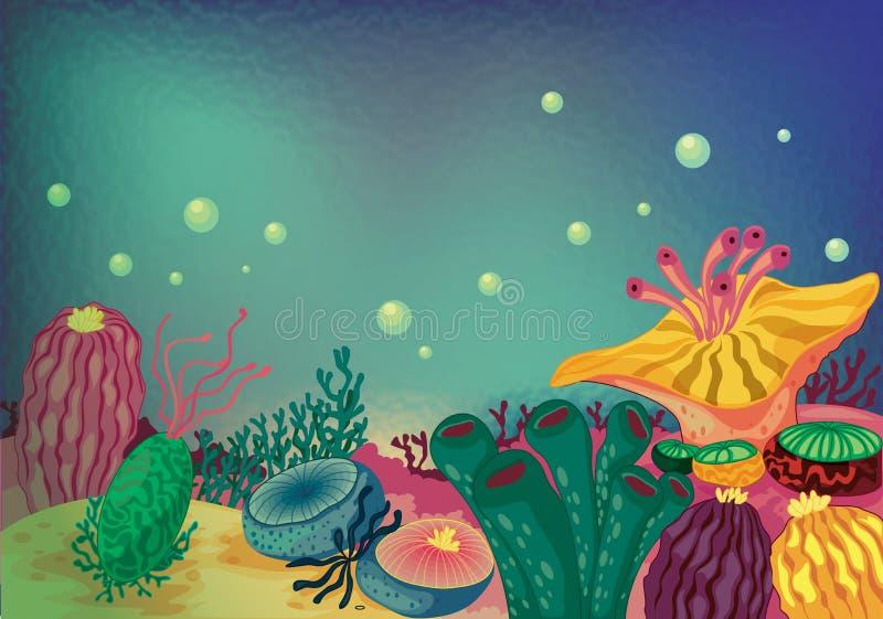 zasadza morze ilustracja wektor