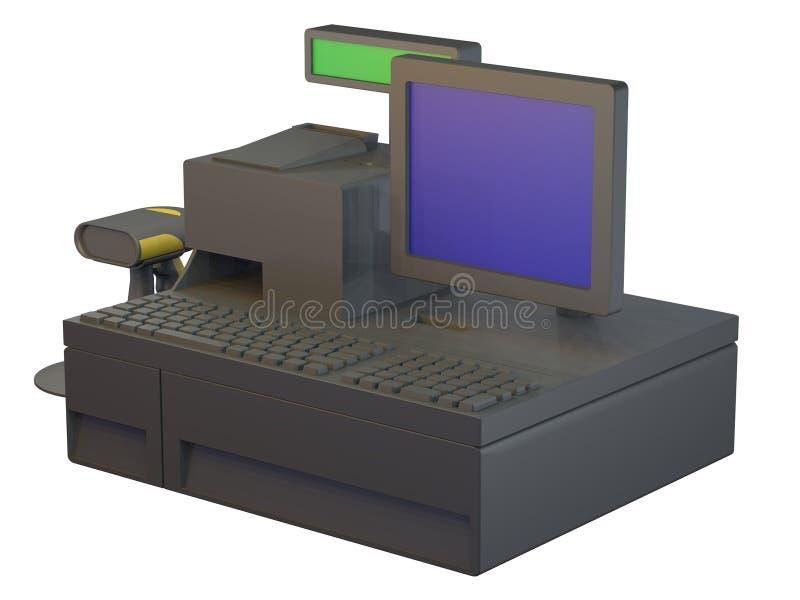 zasadzona komputeru osobisty punktu sprzedaż detaliczna ilustracji