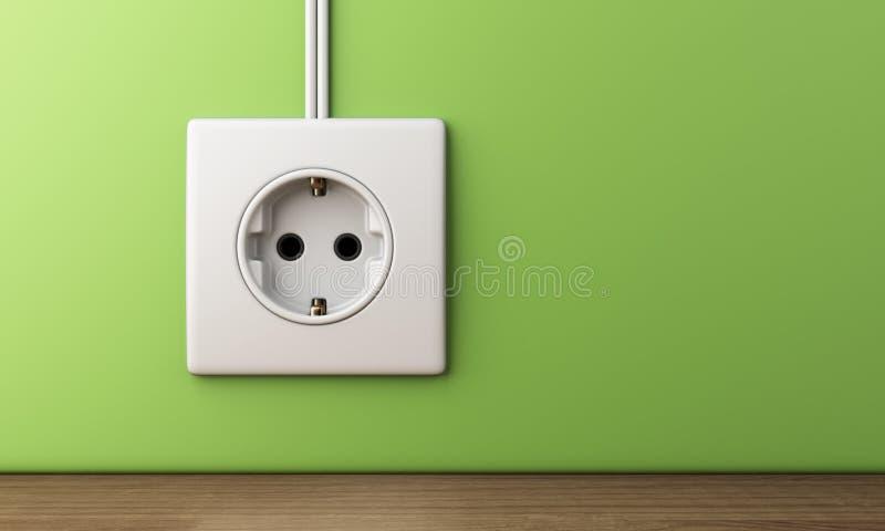 Zasilania elektrycznego gniazdkowy ujście 3D zdjęcie stock