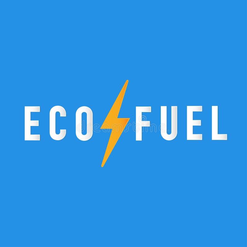 Zasilanie elektryczne jest eco paliwa prezentacją ilustracji