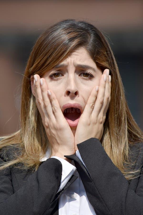 Zaskakująca Dorosła Kolumbijska osoba Jest ubranym kostium obrazy stock
