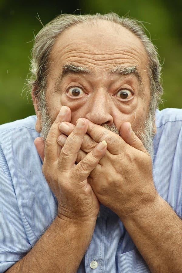 Zaskakująca Latynoska samiec Grampa zdjęcia stock