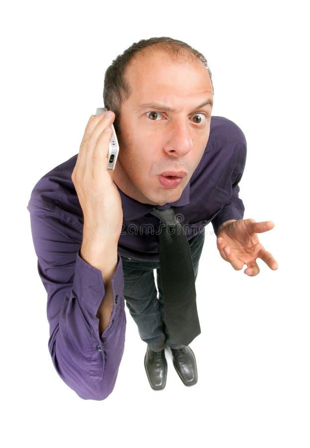 zaskakujący biznesowy mężczyzna zdjęcia stock