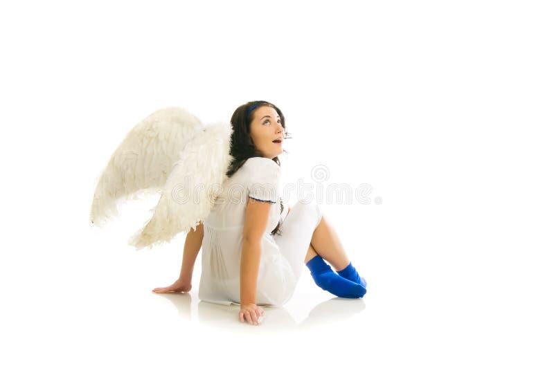 zaskoczony, że anioł obrazy stock