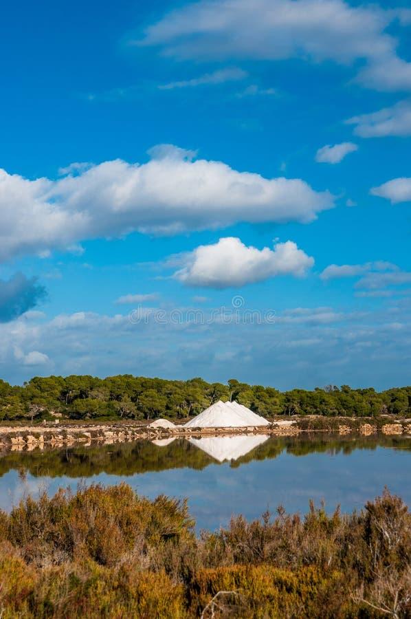 Zasolony na Mallorca, Ses Salines zdjęcia stock