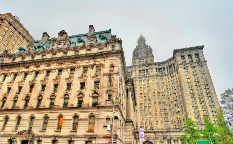 Zastępczy ` s gmach sądu i Manhattan Miejski budynek w Miasto Nowy Jork, usa obraz royalty free