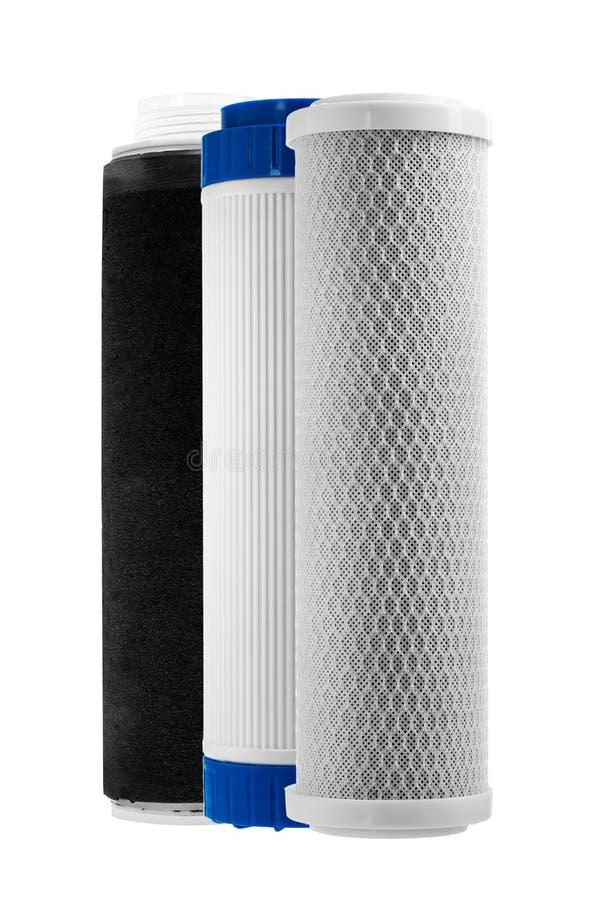 Zastępowalne ładownicy filtry oczyszczanie wody zdjęcie royalty free
