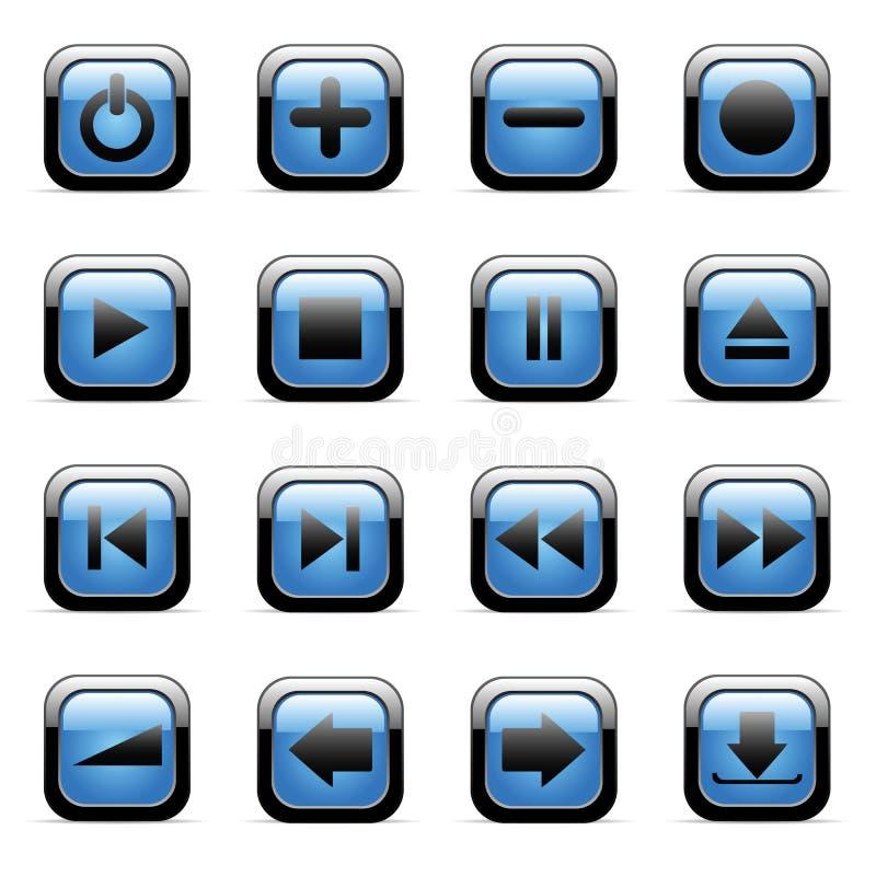 zastosowań ikony ustawiająca wektorowa sieć royalty ilustracja