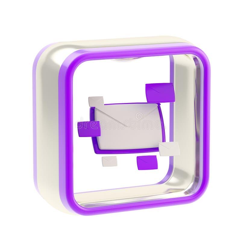 zastosowania e emblemata ikony listowa poczta zdjęcia stock
