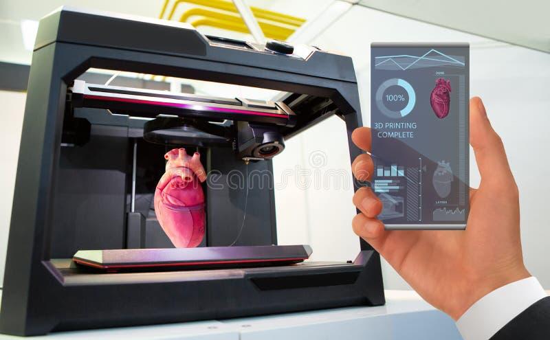 Zastosowanie dla 3d drukuje ludzkich organy fotografia royalty free