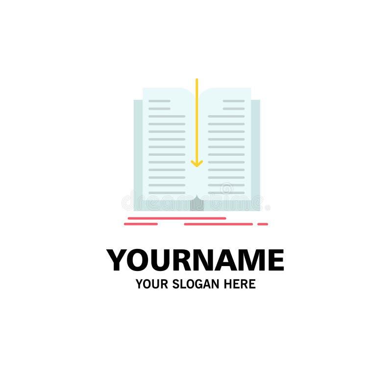 Zastosowanie, kartoteka, przeniesienie, Książkowy Biznesowy logo szablon p?aski kolor royalty ilustracja