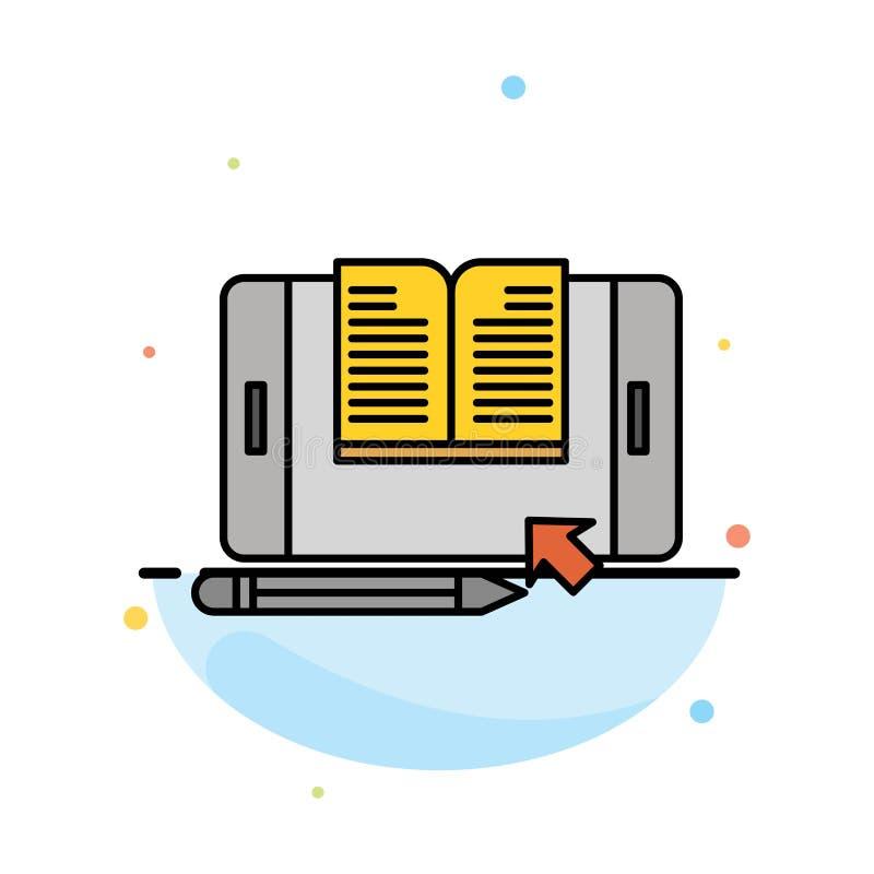 Zastosowanie, kartoteka, Smartphone, pastylka, przeniesienie koloru ikony Abstrakcjonistyczny Płaski szablon ilustracji