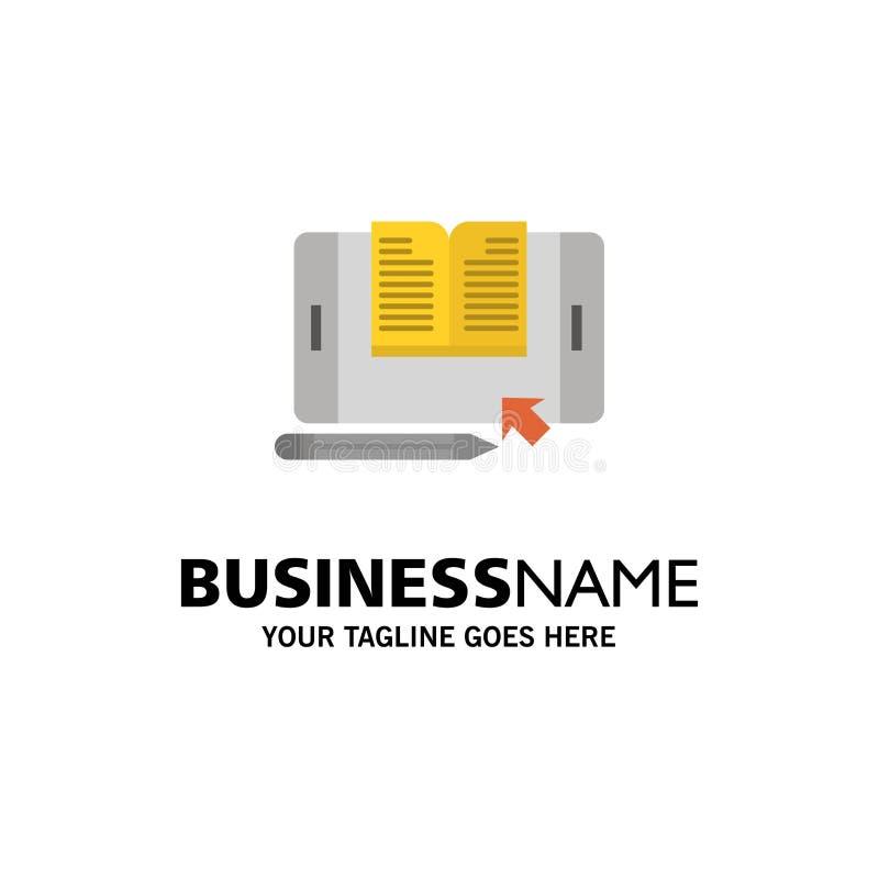 Zastosowanie, kartoteka, Smartphone, pastylka, przeniesienie logo Biznesowy szablon p?aski kolor ilustracji