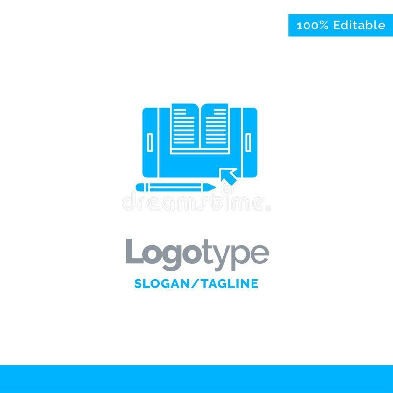 Zastosowanie, kartoteka, Smartphone, pastylka, Przenosi Błękitnego Stałego logo szablon Miejsce dla Tagline ilustracji
