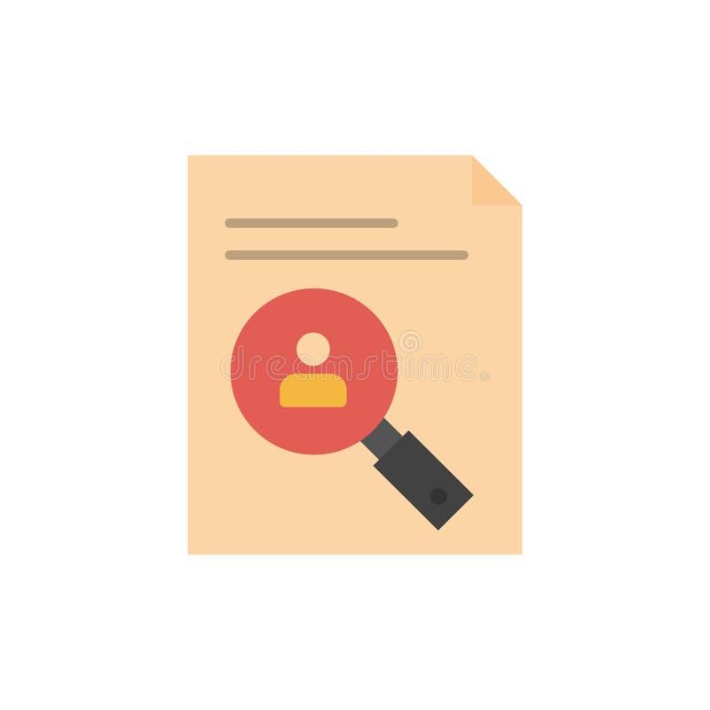 Zastosowanie, schowek, program nauczania, Cv, życiorys, Pięcioliniowa Płaska kolor ikona Wektorowy ikona sztandaru szablon ilustracja wektor