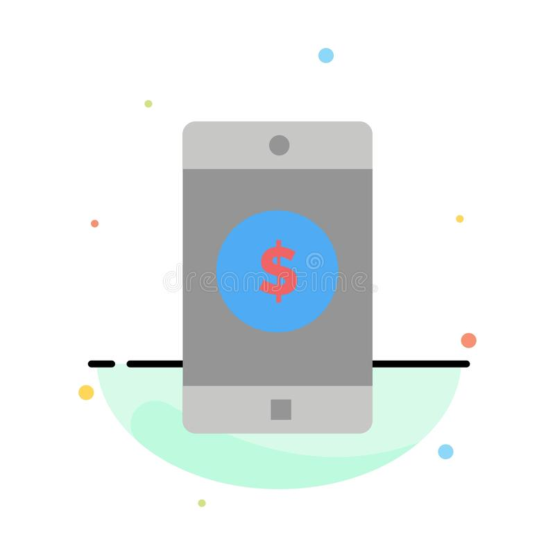 Zastosowanie, wisząca ozdoba, Mobilny zastosowanie, Dolarowy Abstrakcjonistyczny Płaski kolor ikony szablon royalty ilustracja
