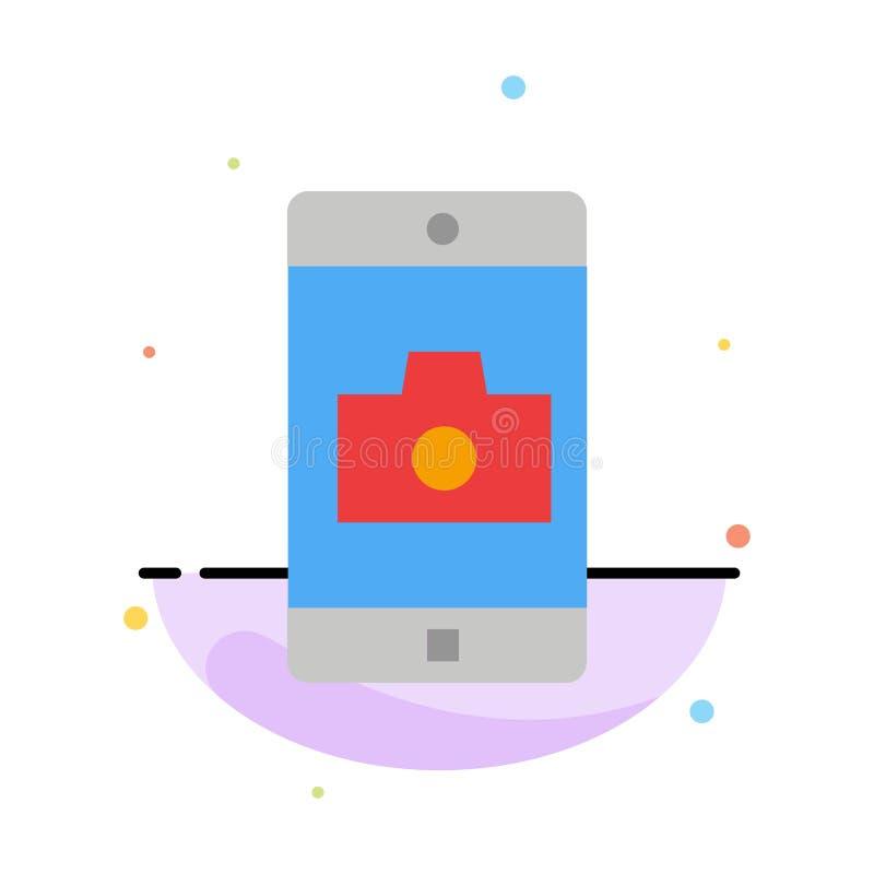 Zastosowanie, wisząca ozdoba, Mobilny zastosowanie, kamera koloru ikony Abstrakcjonistyczny Płaski szablon ilustracja wektor