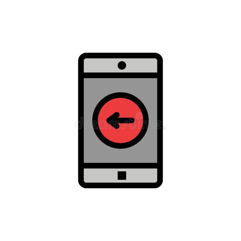 Zastosowanie, wisząca ozdoba, Mobilny zastosowanie, lewa Płaska kolor ikona Wektorowy ikona sztandaru szablon ilustracja wektor