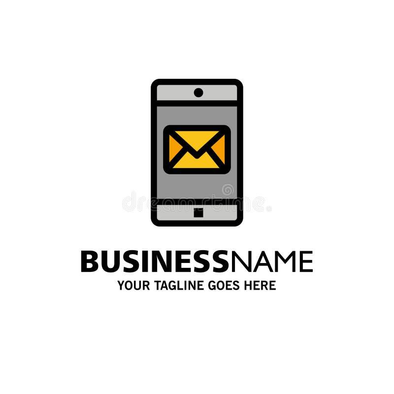 Zastosowanie, wisząca ozdoba, Mobilny zastosowanie, poczta logo Biznesowy szablon p?aski kolor ilustracja wektor