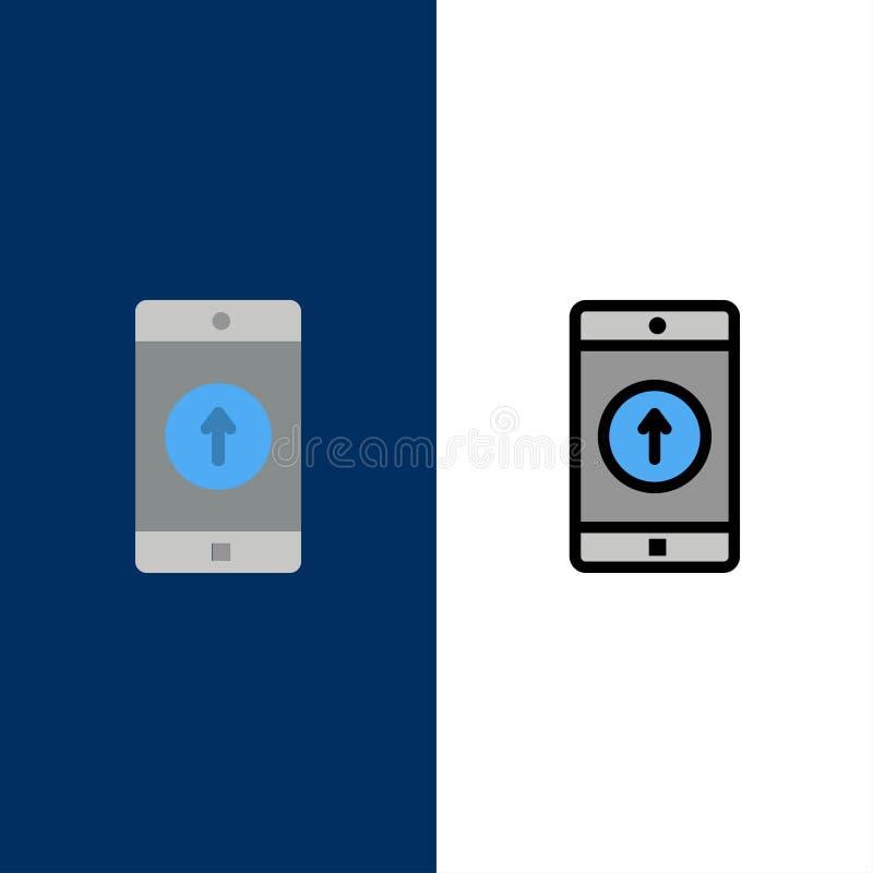 Zastosowanie, wisząca ozdoba, Mobilny zastosowanie, Smartphone, Wysyłać ikony Mieszkanie i linia Wypełniający ikony Ustalony Wekt royalty ilustracja