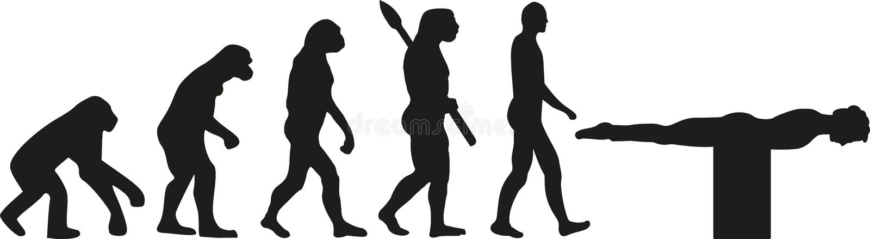 Zaszalować ewolucję royalty ilustracja