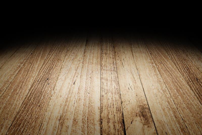 Zaszaluje drewnianego podłogowego tekstury tło dla pokazu twój produkt, Moc zdjęcia royalty free
