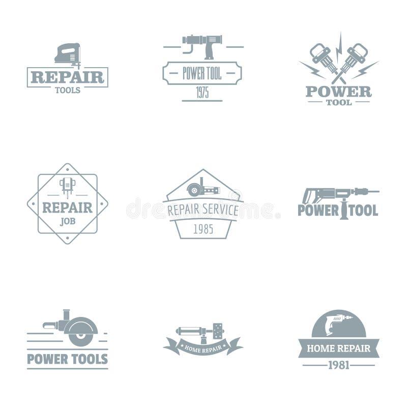 Zaszycie loga set, prosty styl royalty ilustracja