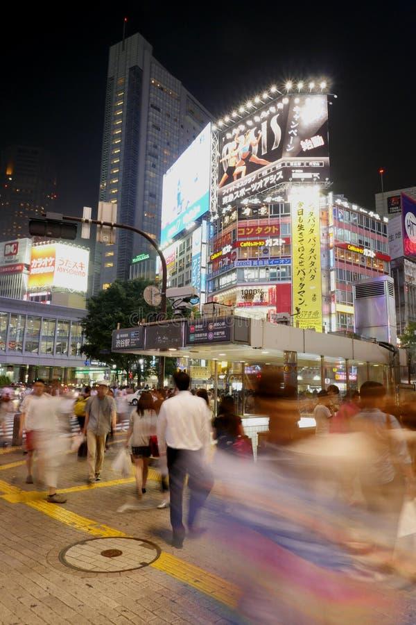 Zatłoczony Shibuya, Japonia obrazy royalty free