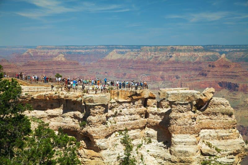 Zatłoczony widoku punkt przy Uroczystego jaru parkiem narodowym zdjęcie royalty free