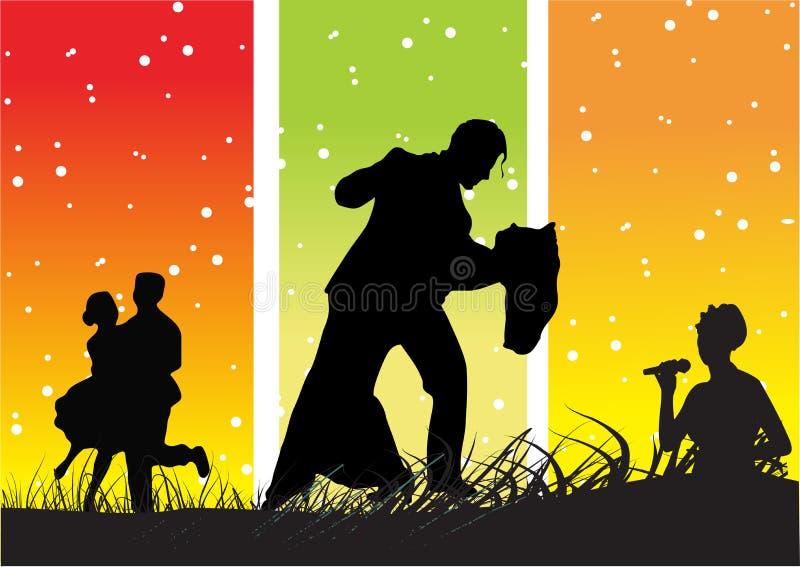 zatańcz tło ilustracji