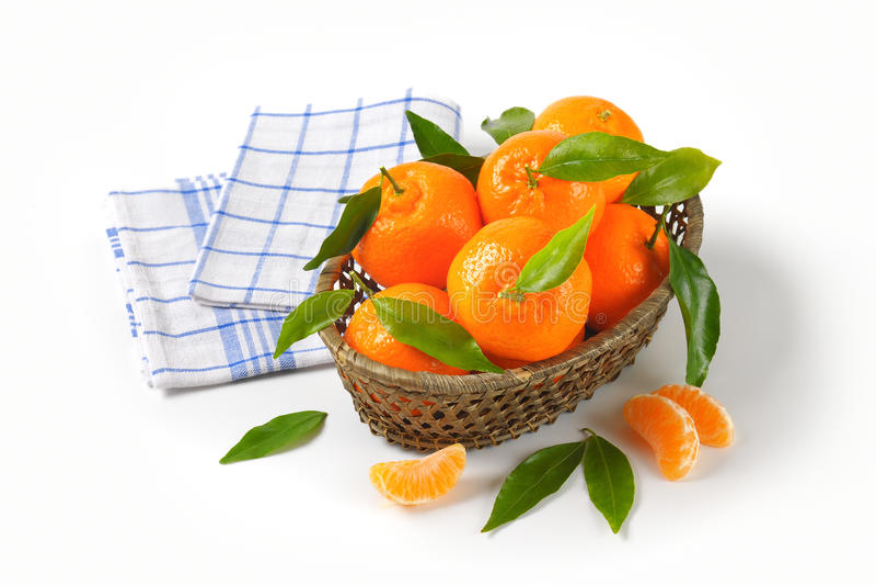 Zatapia dojrzali tangerines obrazy royalty free