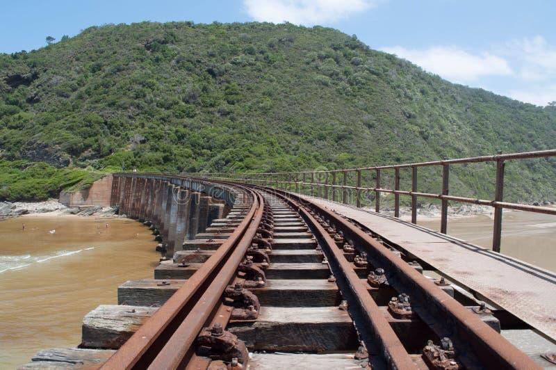 Zatarci pociągów ślada obraz stock