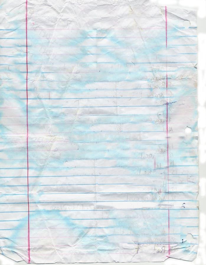 Zatarty, Pobrudzony i Poszarpany notatnika papier, zdjęcie royalty free