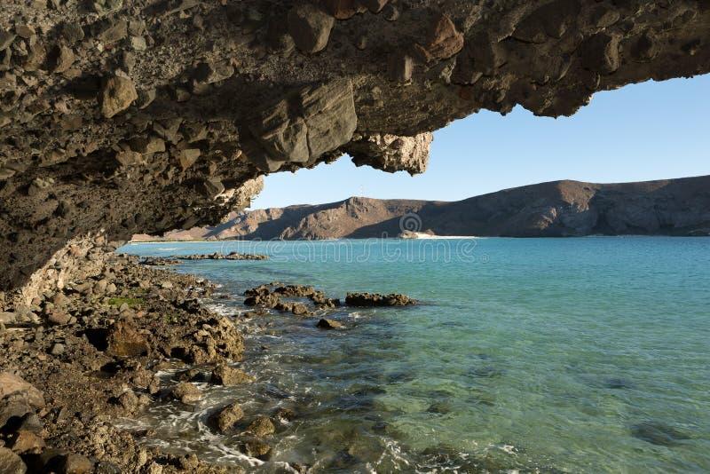 Zatoczka w Balandra plaży, los angeles Paz Meksyk obraz royalty free