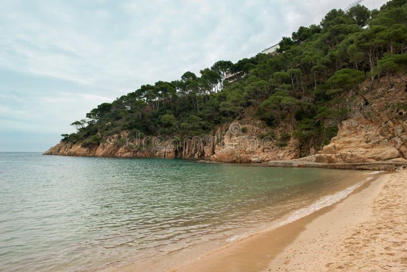 Zatoczki sa tuńczyk w Begur, Costa brava, Girona obraz stock