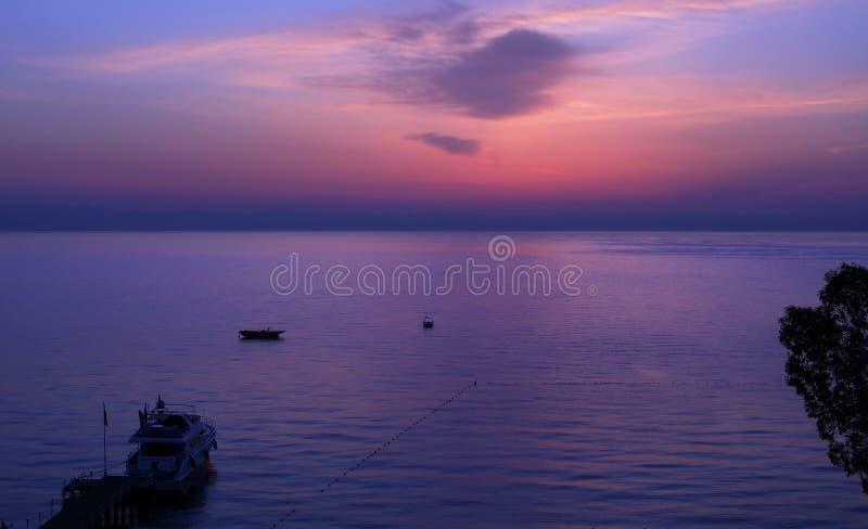 zatokę antalya moment na wschód słońca fotografia royalty free