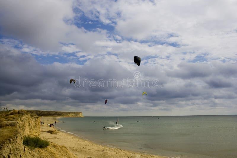 zatok windsurfers zdjęcia stock