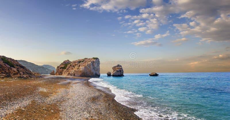 Zatoka Aphrodite Paphos, Cypr obraz royalty free