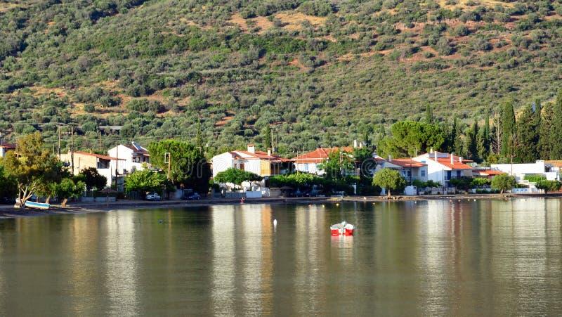 Zatoka Corinth zatoka, późne popołudnie, Grecja obrazy stock